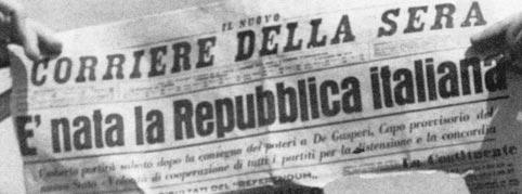 Festa della repubblica della prima o della seconda for Repubblica italiana nascita